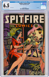 Spitfire Comics #133 (Elliot, 1945) CGC FN+ 6.5 Cream to off-white pages
