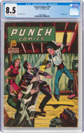Golden Age (1938-1955):Crime, Punch Comics #18 (Chesler, 1946) CGC VF+ 8.5 Off-white to white pages....