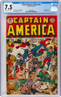 Captain America Comics #46 (Timely, 1945) CGC VF- 7.5 Off-white to white pages