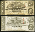 T58 $20 1863 Two Examples Very Fine or Better. ... (Total: 2 notes)
