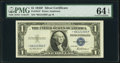 Fr. 1615* $1 1935F Silver Certificate. PMG Choice Uncirculated 64 EPQ