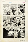 Original Comic Art:Panel Pages, Ross Andru and Mike Esposito (attributed) Joe Yank #9 Story Page 5 Original Art (Pines, 1952)....