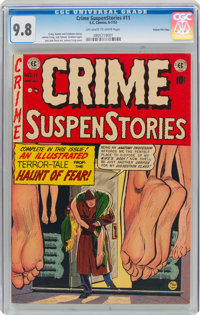 Crime SuspenStories #11 Gaines File Pedigree 10/12 (EC, 1952) CGC NM/MT 9.8 Off-white to white pages
