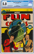Golden Age (1938-1955):Superhero, More Fun Comics #65 (DC, 1941) CGC VG/FN 5.0 Light tan to off-white pages....