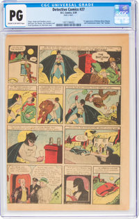 Detective Comics #27 Page 2 Only (DC, 1939) CGC