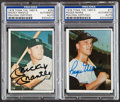 """Autographs:Sports Cards, 1978 TCMA """"The 1960's"""" Mickey Mantle & Roger Maris Signed PSA/DNA Pair (2)...."""