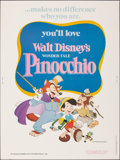 """Movie Posters:Animation, Pinocchio (Buena Vista, R-1978). Rolled, Very Fine+. Poster (30"""" X 40""""). Animation.. ..."""