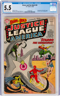 The Brave and the Bold #28 Justice League of America (DC, 1960) CGC FN- 5.5 Off-white to white pages