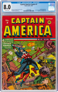 Captain America Comics #7 (Timely, 1941) CGC VF 8.0 Off-white pages