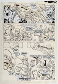 Original Comic Art:Panel Pages, Carmine Infantino and Murphy Anderson Secret Origins Annual #2 Story Page 17 Original Art (DC Comics, 1988). ...