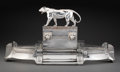 Silver & Vertu, A WMF Silver-Plated and Glass Figural Centerpiece, Geislingen, Germany, circa 1930. Marks: (ostrich over WMF over G), B, I...