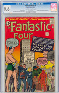 Silver Age (1956-1969):Superhero, Fantastic Four #9 (Marvel, 1962) CGC NM+ 9.6 Off-white to white pages....