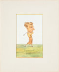 """Golf Cards:General, 1931 W.A. & A.C. Churchman """"Prominent Golfers"""" Art Collection (7). ... (Total: 7 items)"""