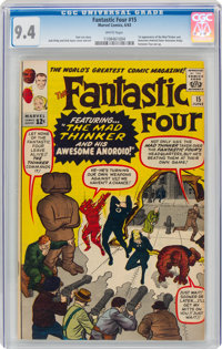 Fantastic Four #15 (Marvel, 1963) CGC NM 9.4 White pages