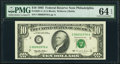 Four-digit Serial 00002976 Fr. 2031-C $10 1995 Federal Reserve Note. PMG Choice Uncirculated 64 EPQ