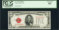 Fr. 1529 $5 1928D Legal Tender Note. PCGS Choice New 63