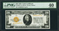 Fr. 2402 $20 1928 Gold Certificate. PMG Extremely Fine 40
