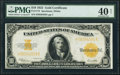Large Size:Gold Certificates, Fr. 1173 $10 1922 Gold Certificate PMG Extremely Fine 40 Net.. ...