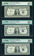 Small Size:Silver Certificates, Fr. 1619* $1 1957 Silver Certificate Star. PMG Superb Gem Unc 67 EPQ;. Fr. 1620 $1 1957A Silver Certificate. PMG Superb Ge... (Total: 5 notes)