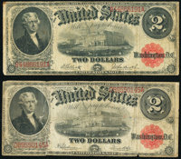 Fr. 58 $2 1917 Legal Tender Very Good; Fr. 60 $2 1917 Legal Tender Very Good. ... (Total: 2 notes)