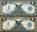 Large Size:Silver Certificates, Fr. 233 $1 1899 Silver Certificate Fine;. Fr. 236 $1 1899 Silver Certificate Very Fine.. ... (Total: 2 notes)