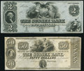 Newton, NJ- Sussex Bank $2; $50 18__ Remainders Crisp Uncirculated; About Uncirculated. ... (Total: 2 notes)