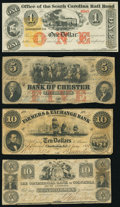 Obsoletes By State:South Carolina, Charleston, SC- Farmers & Exchange Bank of Charleston $10 Jan. 9, 1854 Fine;. Charleston. SC- Office of the South Caro... (Total: 4 notes)