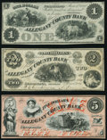 Obsoletes By State:Maryland, Cumberland, MD- Allegany County Bank $1; $2 June 1, 1861; $5 Feb. 13, 1861 Fine-Very Fine or Better.. ... (Total: 3 notes)