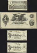Obsoletes By State:Wyoming, A Quartet of Generic Examples of Business College Currency 1(¢); 10(¢); 25(¢); ($)1 circa 1900 Remainders Very Fine or B... (Total: 4 notes)