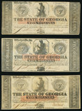 Obsoletes By State:Georgia, Milledgeville, GA- State of Georgia $5 Jan. 15, 1862, Six Examples Very Fine to Crisp Uncirculated.. ... (Total: 6 notes)