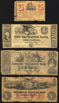 A Quartet of Well Worn Obsolete Notes from Georgia and Tennessee circa 1860 Fair or Better. ... (Total: 4 notes)