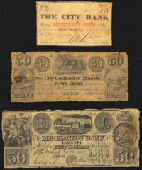 A Trio of Well Circulated Georgia Obsolete Notes. Good or Better. ... (Total: 3 notes)