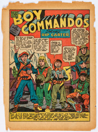 Detective Comics #64 12-Page Boy Commandos Story ONLY (DC, 1942).... (Total: 6 Items)