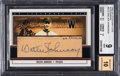 Baseball Cards:Singles (1970-Now), 2002 SP Legendary Cuts Autographs Walter Johnson #WJo Beckett 9, Auto 10. ...