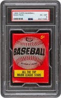 Baseball Cards:Unopened Packs/Display Boxes, 1966 Topps Baseball Unopened 5-Cent Wax Pack PSA EX-MT 6. ...