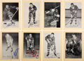 Autographs:Sports Cards, Signed 1944 - 1963 Bee Hive Hockey (Group Two) Toronto Map...