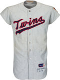 Baseball Collectibles:Uniforms, 1965 Zoilo Versalles Game Worn Minnesota Twins Jersey - First MVP Season by a Latin American Player!...