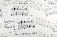 Jim Davis and Studio Garfield Daily Comic Strip Preliminary Original Art Group of 310 (United Feature Syndicate, 1... (T...