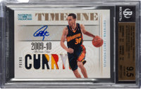 2009 National Treasures Timeline Materials Stephen Curry (Custom Name Prime Signatures) BGS Gem MT 9.5, Auto 10 - #'d 20...