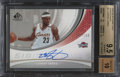 Basketball Cards:Singles (1980-Now), 2005-06 SP Game Used Lebron James (Significance) #LJ BGS Gem Mint 9.5, Auto 10 - #77/100. ...