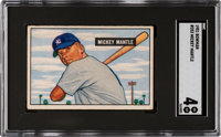 1951 Bowman Mickey Mantle #253 SGC VG/EX 4
