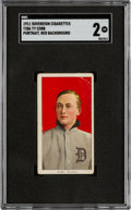 Baseball Cards:Singles (Pre-1930), 1909-11 T206 Sovereign 460 Ty Cobb (Portrait-Red) SGC Good 2 - Only Four Confirmed SGC-Examples. ...