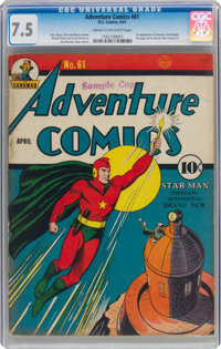 Adventure Comics #61 (DC, 1941) CGC VF- 7.5 Cream to off-white pages