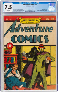 Adventure Comics #44 (DC, 1939) CGC VF- 7.5 White pages