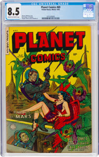 Planet Comics #69 (Fiction House, 1952) CGC VF+ 8.5 Cream to off-white pages