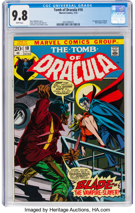 Tomb of Dracula #10 (Marvel, 1973) CGC NM/MT 9.8 White pages....