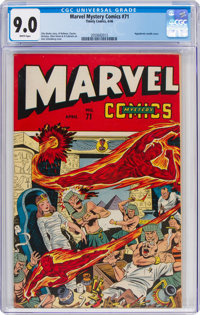 Marvel Mystery Comics #71 (Timely, 1946) CGC VF/NM 9.0 White pages