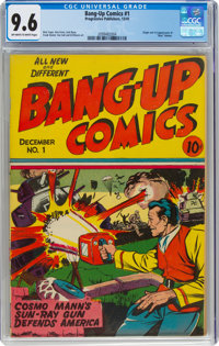 Bang-Up Comics #1 (Progressive Publishers, 1941) CGC NM+ 9.6 Off-white to white pages