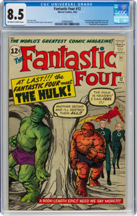 Fantastic Four #12 (Marvel, 1963) CGC VF+ 8.5 Off-white to white pages