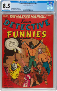 Keen Detective Funnies #18 (Centaur, 1940) CGC VF+ 8.5 Off-white pages